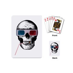 Cinema Skull Playing Cards (mini)  by Valentinaart