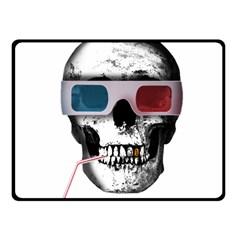 Cinema Skull Fleece Blanket (small) by Valentinaart