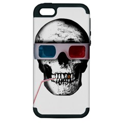Cinema Skull Apple Iphone 5 Hardshell Case (pc+silicone) by Valentinaart