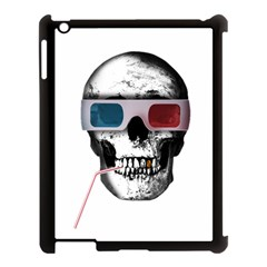 Cinema Skull Apple Ipad 3/4 Case (black) by Valentinaart