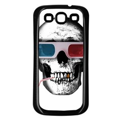 Cinema Skull Samsung Galaxy S3 Back Case (black) by Valentinaart