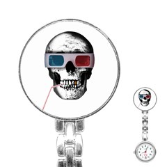 Cinema Skull Stainless Steel Nurses Watch by Valentinaart