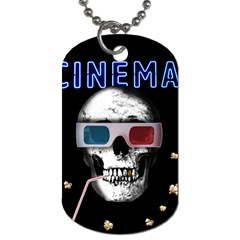 Cinema Skull Dog Tag (two Sides) by Valentinaart