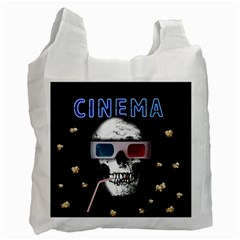 Cinema Skull Recycle Bag (one Side) by Valentinaart