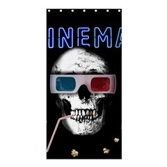 Cinema Skull Shower Curtain 36  X 72  (stall)  by Valentinaart