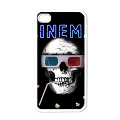 Cinema Skull Apple Iphone 4 Case (white) by Valentinaart