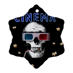 Cinema Skull Snowflake Ornament (two Sides) by Valentinaart