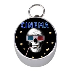 Cinema Skull Mini Silver Compasses by Valentinaart