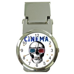 Cinema Skull Money Clip Watches by Valentinaart