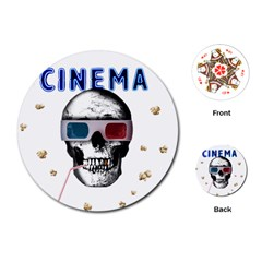 Cinema Skull Playing Cards (round)  by Valentinaart