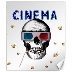 Cinema Skull Canvas 8  X 10  by Valentinaart