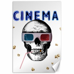 Cinema Skull Canvas 20  X 30   by Valentinaart