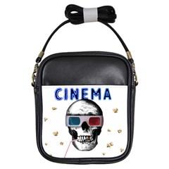 Cinema Skull Girls Sling Bags by Valentinaart