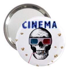 Cinema Skull 3  Handbag Mirrors by Valentinaart