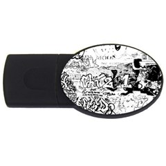 Graffiti Usb Flash Drive Oval (2 Gb) by Valentinaart