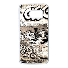 Graffiti Samsung Galaxy S7 White Seamless Case by Valentinaart