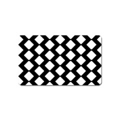 Abstract Tile Pattern Black White Triangle Plaid Magnet (name Card) by Alisyart