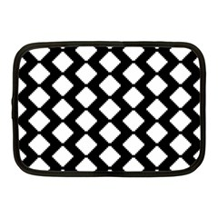 Abstract Tile Pattern Black White Triangle Plaid Netbook Case (medium)  by Alisyart