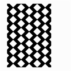 Abstract Tile Pattern Black White Triangle Plaid Small Garden Flag (two Sides) by Alisyart
