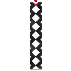 Abstract Tile Pattern Black White Triangle Plaid Large Book Marks by Alisyart