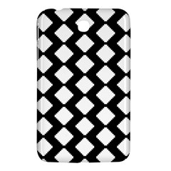 Abstract Tile Pattern Black White Triangle Plaid Samsung Galaxy Tab 3 (7 ) P3200 Hardshell Case  by Alisyart