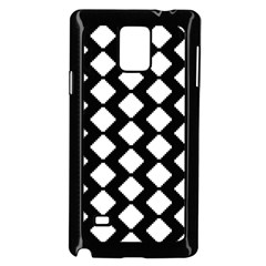 Abstract Tile Pattern Black White Triangle Plaid Samsung Galaxy Note 4 Case (black) by Alisyart
