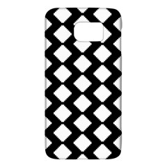 Abstract Tile Pattern Black White Triangle Plaid Galaxy S6 by Alisyart