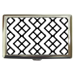 Abstract Tile Pattern Black White Triangle Plaid Chevron Cigarette Money Cases