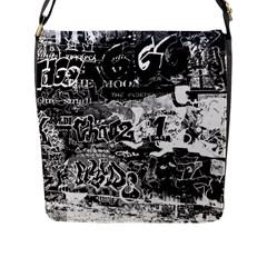 Graffiti Flap Messenger Bag (l)  by Valentinaart