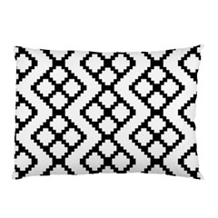 Abstract Tile Pattern Black White Triangle Plaid Chevron Pillow Case (two Sides) by Alisyart