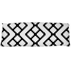 Abstract Tile Pattern Black White Triangle Plaid Chevron Body Pillow Case Dakimakura (two Sides) by Alisyart