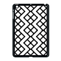 Abstract Tile Pattern Black White Triangle Plaid Chevron Apple Ipad Mini Case (black) by Alisyart
