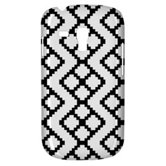 Abstract Tile Pattern Black White Triangle Plaid Chevron Galaxy S3 Mini by Alisyart