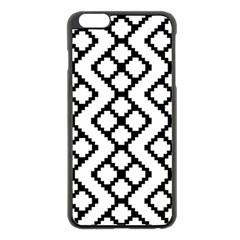 Abstract Tile Pattern Black White Triangle Plaid Chevron Apple Iphone 6 Plus/6s Plus Black Enamel Case by Alisyart