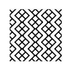 Abstract Tile Pattern Black White Triangle Plaid Chevron Small Satin Scarf (square) by Alisyart