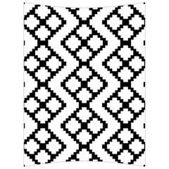 Abstract Tile Pattern Black White Triangle Plaid Chevron Back Support Cushion by Alisyart