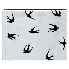 Black Bird Fly Sky Cosmetic Bag (xxxl)  by Alisyart