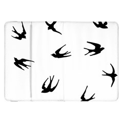 Black Bird Fly Sky Samsung Galaxy Tab 8 9  P7300 Flip Case by Alisyart
