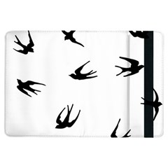 Black Bird Fly Sky Ipad Air Flip by Alisyart