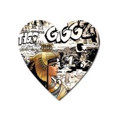 Cleopatra Heart Magnet by Valentinaart