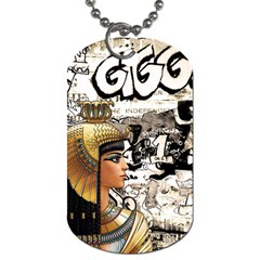 Cleopatra Dog Tag (two Sides) by Valentinaart