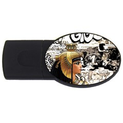 Cleopatra Usb Flash Drive Oval (2 Gb) by Valentinaart