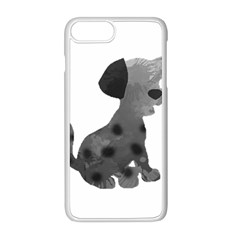 Dalmatian Inspired Silhouette Apple Iphone 8 Plus Seamless Case (white)