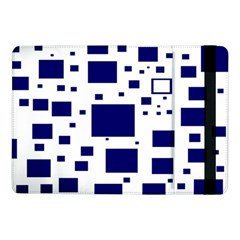 Blue Squares Textures Plaid Samsung Galaxy Tab Pro 10 1  Flip Case by Alisyart