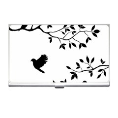 Bird Tree Black Business Card Holders by Alisyart