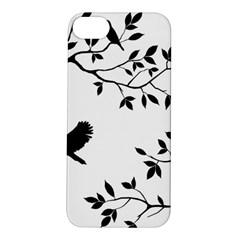 Bird Tree Black Apple Iphone 5s/ Se Hardshell Case by Alisyart