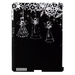 Christmas Angels Star Blue Apple Ipad 3/4 Hardshell Case (compatible With Smart Cover) by Alisyart