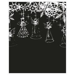 Christmas Angels Star Blue Drawstring Bag (small) by Alisyart