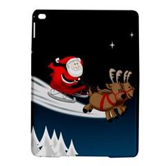 Christmas Reindeer Santa Claus Snow Star Blue Sky Ipad Air 2 Hardshell Cases by Alisyart