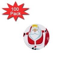 Christmas Santa Claus 1  Mini Buttons (100 Pack)  by Alisyart